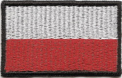 Флаг ПОЛЬША Полоса ВЫШИВКА 50х30мм ЛИПАНЬ доставка товаров из Польши и Allegro на русском
