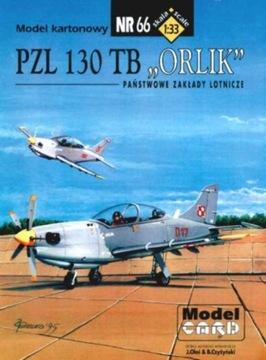 Model Card № 66 PZL 130 ТБ ОРЛИК доставка товаров из Польши и Allegro на русском