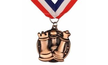 Медаль шахматный круглый КОРИЧНЕВЫЙ - тяжелый! доставка товаров из Польши и Allegro на русском