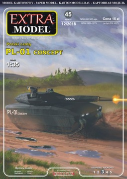 Польский танк PL-01 Concept 1:35_Extra Модель доставка товаров из Польши и Allegro на русском