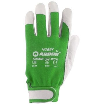 Перчатки Рабочие Кожаные Козья Кожа Хобби r. 8 доставка товаров из Польши и Allegro на русском