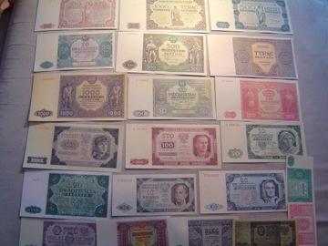 POLSKA zestaw 21 banknotów lat z 1946-47-48 доставка товаров из Польши и Allegro на русском