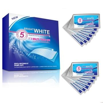 Paski wybielające Bright White NEW 28 szt i GRATIS