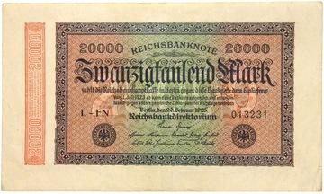Германия - БАНКНОТЫ - 20000 Марок 1923 доставка товаров из Польши и Allegro на русском