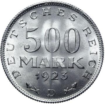 (Германия 500 Марок 1923 D - MENNICZA ИЗ РУЛОНА) доставка товаров из Польши и Allegro на русском
