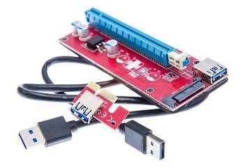 RISER PCI-E 1x-16x USB 3.0 SATA ver 007S ПОСЛЕДНИЙ доставка товаров из Польши и Allegro на русском