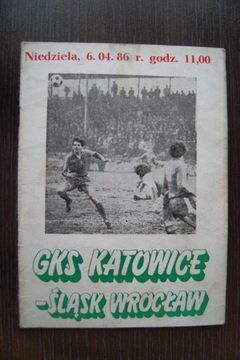 PROGRAM GKS KATOWICE ŚLĄSK WROCŁAW 1986.04.06 доставка товаров из Польши и Allegro на русском