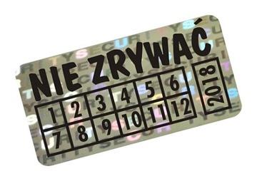 NH-210 - 20x10mm ГОЛОГРАММА ПЛОМБА SECURITY VOID доставка товаров из Польши и Allegro на русском
