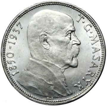 Чехословакия 20 Крон 1937 МАСАРИК СЕРЕБРО - UNC доставка товаров из Польши и Allegro на русском