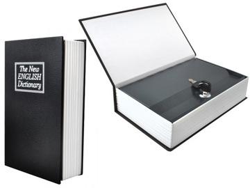 Сейф Книга Сейф Металлический На Деньги + Ключ доставка товаров из Польши и Allegro на русском