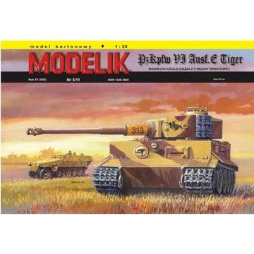 Штампик 5/11 - Танк Panzer VI TIGER Ausf.E 1:25 доставка товаров из Польши и Allegro на русском