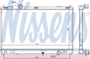 РАДИАТОР CIECZY LEXUS GS S19 05-11 3.0 NISSENS