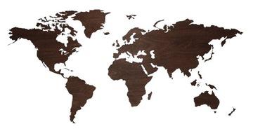 Mapa sveta 3D dekorácia steny Loft