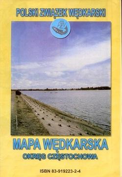 Rybárska mapa District Częstochowa pzw