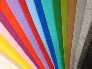 FA151 Plsť 5 listov 49x49cm 20 farieb 4mm VEĽKOOBCHOD