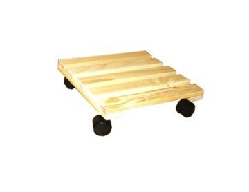 Malý štvorcový drevený stojan na kolieskach HIT !!!