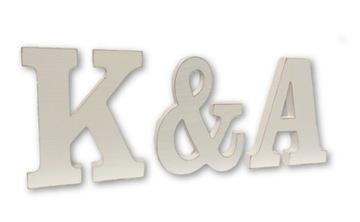 -30% Drevené písmená iniciály svadobnej svadobnej abecedy
