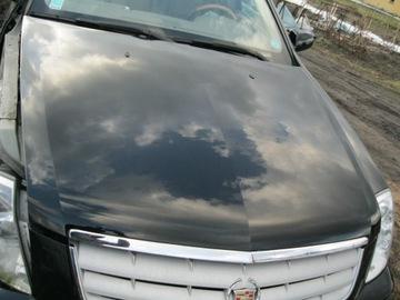 Cadillac sts капот комплектный черная хорошее состояние, фото