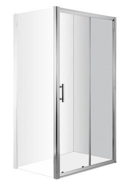 Дверная ниша, цинния, раздвижная, хром, 160x200см