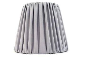 Абажур с рюшами серый 10x15.5x15 см