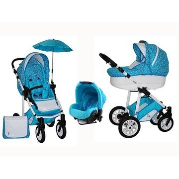 Wózek dziecięcy wielofunkcyjny 3w1 spacerowy fotel