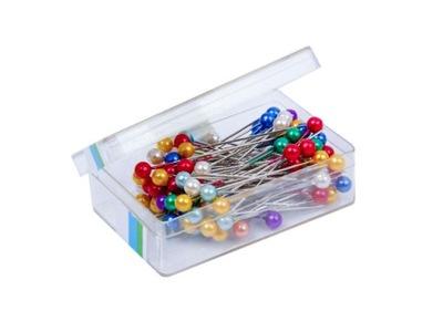 булавки жемчужные BOX для одежды 100 штук цвета