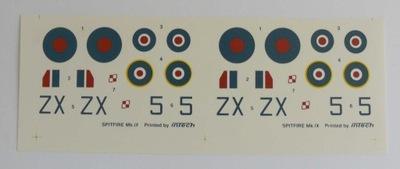 Надпись SPITFIRE Mk.IX ИНТЕХ 1 /72