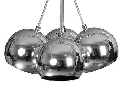 Lampa Zwis żyrandol Nowoczesny 4 Pł Kula Chrom 7104091405 Allegropl