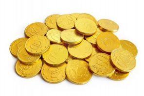 Монеты шоколад Евро центов 100шт конфеты
