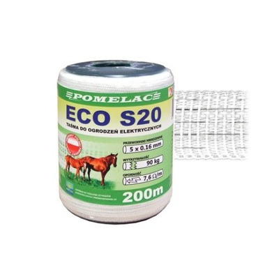 лента белая S20 ECO 200M POMELAC ПАСТУХ