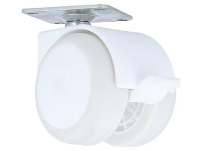 кольцо мебельное Резиновый плитка с тормозом fi50 белое