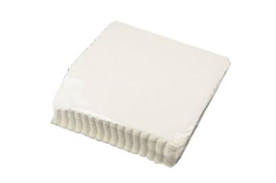 Gastronomické obrúsky 15x15 biela vrúbkovaným karty