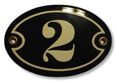 tablica tabliczka EMALIOWANA numer owal 7x10 - GW.