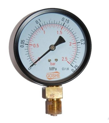 Manometer fi 100 GOSHE 2,5 bar manometer dole
