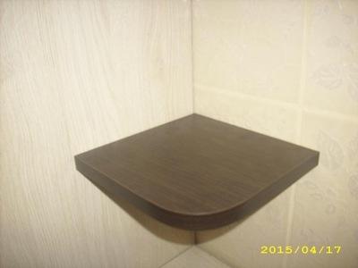 Elegancka półka narożna WENGE 25cm X 25cm