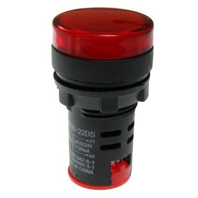 červená LED 24V AC/DC AD16-22 pripojí