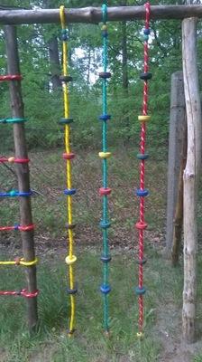 Plac zabaw uchwyt do wspinaczki lina 16 mm linowe