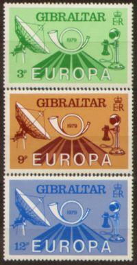 Гибралтар. Мне 405-07 ** Europa CEPT 1980