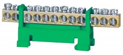 Планка нулевая клемма LZ12 зеленый 10mm2 077247