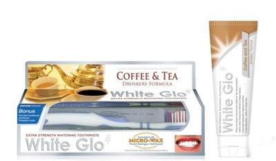 WHITE GLO pasta wybielająca 100ml Kawa Herbata