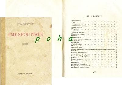 J'Menfoutiste... Zygmunt Tyski ...1931  ...UNIKAT