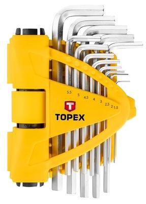 Allenové kľúče T súprava 13 ks 35D970 TOPEX