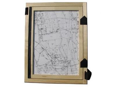 SZKICOWNIK geodezyjny drewniany format A4 zamki