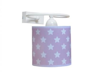 Svietidlá do detskej komory, Stena s abażurem bodky, hviezdy, farba cloud