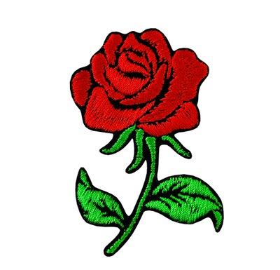 Полоса аппликация Участок термо роза МАЛЕНЬКАЯ войлок
