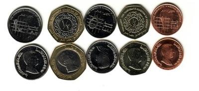 JORDANIA zestaw 5 monet
