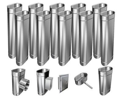 Kotol - 1mm CHIMNEY INSERT 12m 110x160 Tepelne odolný HIT