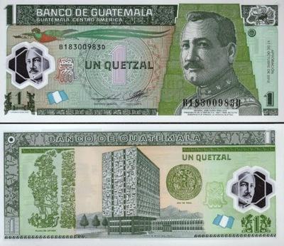 ~ Гватемала 1 Кетцаль P-115d 10 .2012 Полимер, 2014