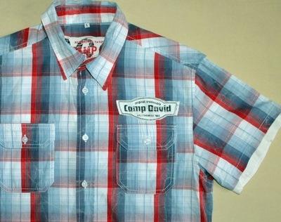 CAMP DAVID Letnia koszula w kratę kratkę rozmiar L