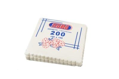 Gastronomické servítky biele vrúbkovaným 16000szt